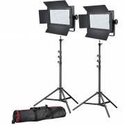 Set de photo/vidéo 2x BRESSER LG-600 38W/5600LUX + 2x Pied d'éclairage