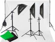 Set d'Éclairage Lumière du Jour et de Fond de Studio BRESSER BR-2105 2925W