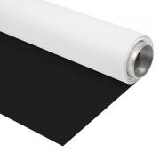 BRESSER Fond vinyle noir/blanc sur rouleau 1,35x4m