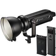 Spot lumineux à LED BRESSER BR-D3000SL COB avec Fonction de Refroidissement