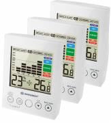 Hygromètre numérique BRESSER MA avec Alerte de Moisissure - Set de 3 pièces / blanc