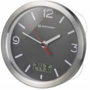 Horloge pour Salle de Bain BRESSER MyTime Thermo/Hygro - gris