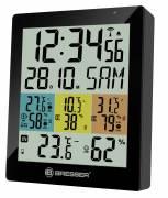 BRESSER Temeo Hygro Quadro DLX - Thermomètre et Hygromètre numérique pour 4 Sites de Mesure