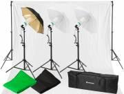 Set d'Éclairage Lumière du Jour et de Fond de Studio BRESSER BR-2120 1600W