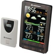 Station météo BRESSER ClimaTemp WS Radio avec écran d'affichage couleurs, aspect bois noble