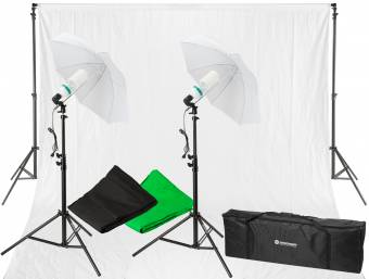 Set d'Éclairage Lumière du Jour et de Fond de Studio BRESSER BR-2116 1250W