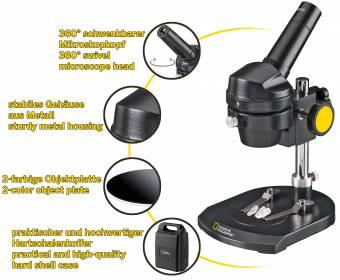 Microscope à lumière incidente 20x NATIONAL GEOGRAPHIC