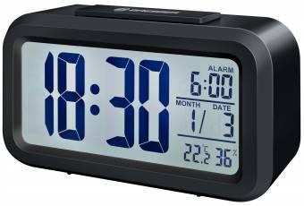 BRESSER Réveil My Time Duo LCD, NOIR