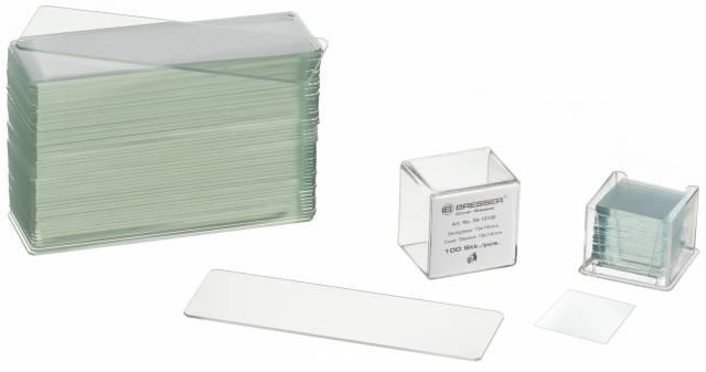 BRESSER Lames porte-objets/Lamelles couvre-objets 50/100 piéces