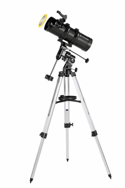 BRESSER Pluto 114/500 EQ Télescope avec Adaptateur pour Smartphone