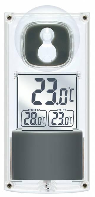 Thermomètre de fenêtre solaire Bresser