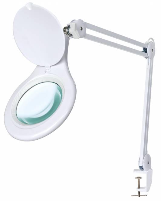 BRESSER Loupe de table-Lampe à LED 2x 125mm