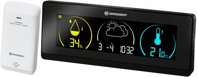 Station météo BRESSER Temeo Life avec écran en couleur