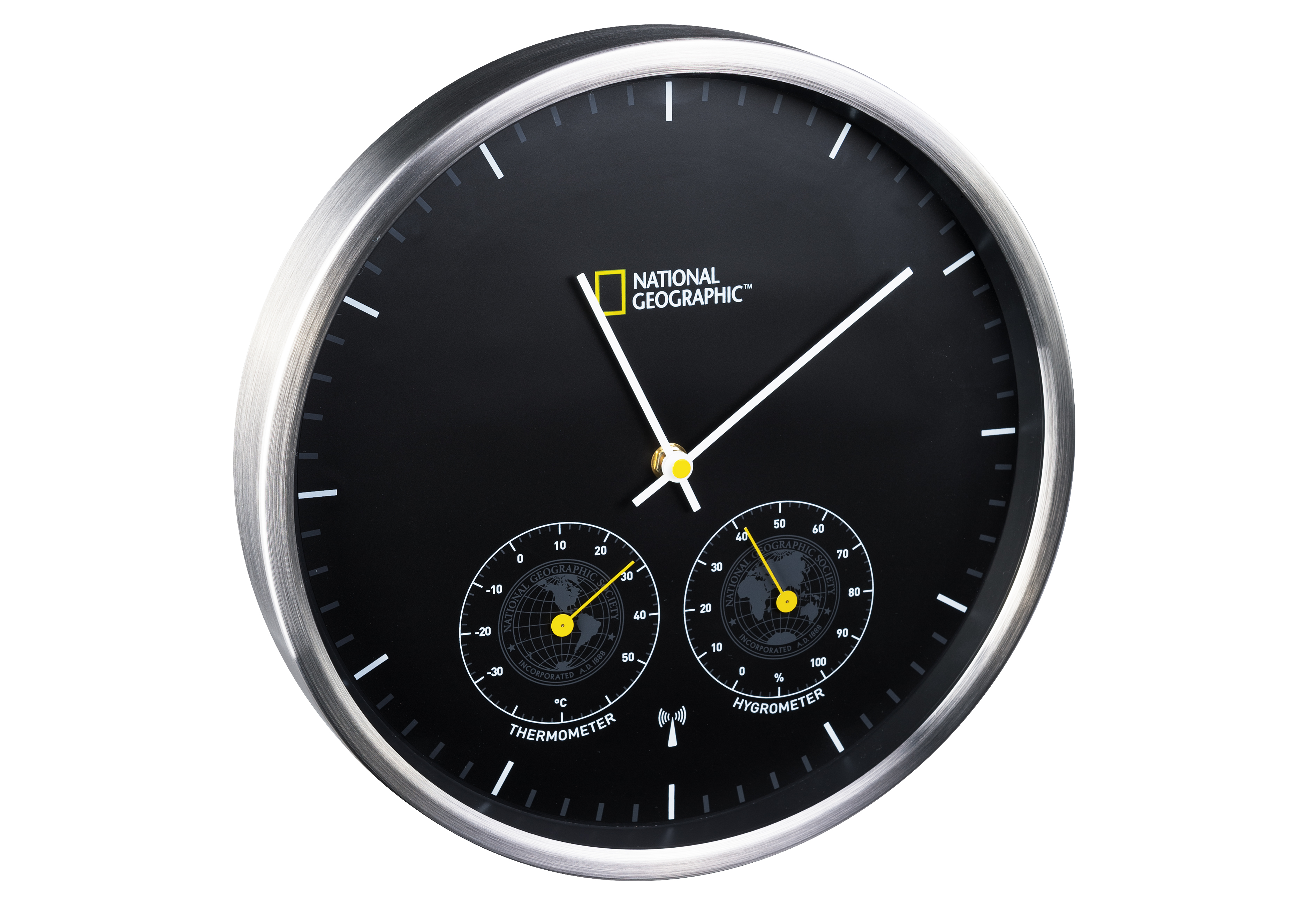 national geographic horloge radio pilot e murale avec thermo hygrom tre acheter en ligne. Black Bedroom Furniture Sets. Home Design Ideas