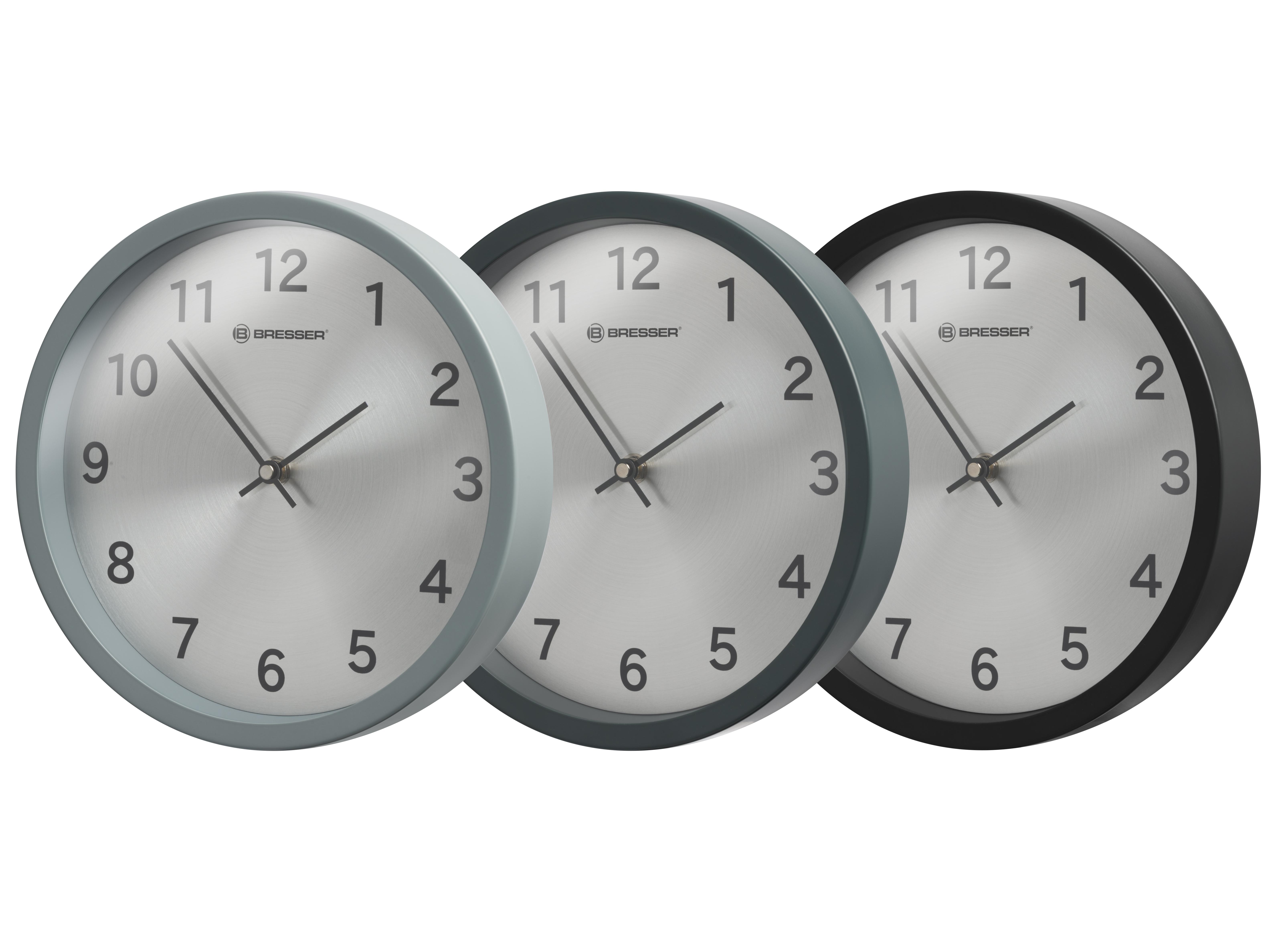 horloge murale bresser mytime silver edition acheter en ligne prix serr. Black Bedroom Furniture Sets. Home Design Ideas